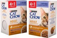 Корм для дорослих котів Cat Chow Purina Adult з ягням і зеленою квасолею Промо (4 + 1) 85 г