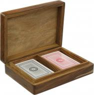 Ігровий набір Гральні карти в дерев'яній коробці WB111