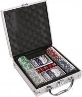 Ігровий набір Покер 100 фішок з номіналом у кейсі DM100NA