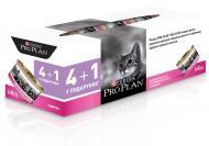 Корм для дорослих котів Pro Plan Purina Delicate Паштет з індичкою Промо (4 + 1) 85 г