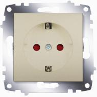 Розетка із заземленням ABB Cosmo зі шторками титан 619-011400-243