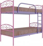 Ліжко Сеніро Дуо 90x200 см рожевий/фіолетовий