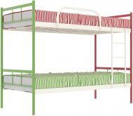 Ліжко Італо Дуо 90x200 см зелений/білий/червоний