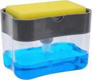 Держатель для губки с дозатором Sponge Soap Dispenser 2 в 1