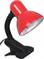 Настільна лампа офісна Accento lighting 1x40 Вт E27 червоний