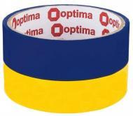 Клейка стрічка 48 мм 20 м жовто-блакитна Optima