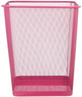 Корзина офисная для бумаги 26,5x26,5x31,5 см розовый