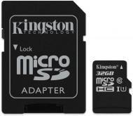 Карта пам'яті Kingston microSDHC 32 ГБ Class 10 (SDCS/32GB) UHS-I Canvas Select 80R class 10+SD Adapter