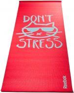 Коврик для йоги Reebok RAYG-11030DS 1730x610x4 мм Do not Stress красный