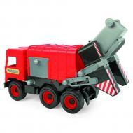Авто Wader Middle truck Мусоровоз красный в коробке (39488)
