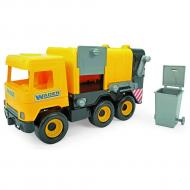 Авто Wader Middle truck Мусоровоз желтый в коробке (39492)