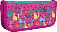 Пенал школьный Funny Cats A6 6010 CF32004-07 Cool For School розовый