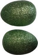 Декор Гулівер Країна Яйцо с глиттер оливковое, 7 см