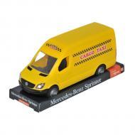 Автомобиль Tigres Mercedes Benz Sprinter грузовой желтый на планшете (39717)