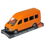 Автомобиль Tigres Mercedes Benz Sprinter пассажирский оранжевый на планшете (39718)