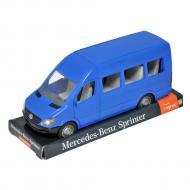 Автомобиль Tigres Mercedes Benz Спринтер пассажирский синий на планшете (39706)