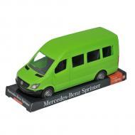 Автомобиль Tigres Mercedes Benz Спринтер пассажирский зеленый на планшете (39714)