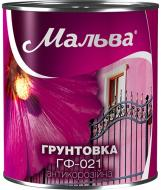 Грунтовка Мальва® ГФ-021 красно-коричневый мат 2,8кг