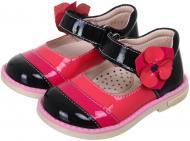 Туфлі для дівчаток для дівчинки MiracleMe р.21 малиново-чорний 12-2-08-2