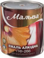 Эмаль Мальва® алкидная для пола ПФ-266 красно-коричневый глянец 2,8кг