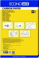 Копировальная бумага А4 100 листов E20501-01 черный Economix