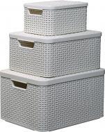 Набір ящиків для зберігання Curver Style крем розміри S/M/L