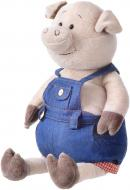 Мягкая игрушка Same Toy Свинка в джинсовом комбинезоне 45 см THT711