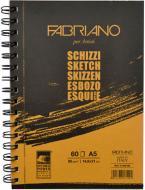 Альбом для ескізів на спіралі Fabriano A5 14,8х21 см 90 г/м² 60 сторінок Schizzi