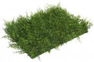 Искусственный коврик Персиковые листья 40х60 см HONGYE E308-0154