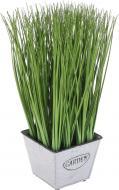 Растение искусственное Мискант в металлическом горшке