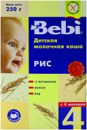 Каша молочна Bebi від 4 місяців рисова 3838600217460 250 г