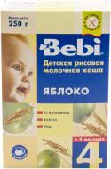 Каша молочна Bebi від 4 місяців рисова з яблуками 250 г