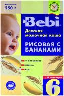 Каша молочна Bebi від 6 місяців рисова з бананом 3838600217712 250 г