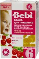 Каша молочна Bebi від 6 місяців пшенична Печиво з малиною та вишнею 3838471018883 200 г