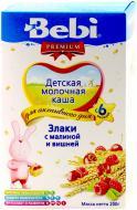 Каша молочна Bebi злаки з малиною та вишнею 3838471016636 200 г