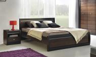 Ліжко BogFran Forrest FR 19/160 160x200 см горіх темний