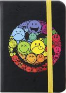 Книга для нотаток 80 аркушів чорна Smiley