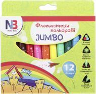 Набір фломастерів Jumbo Super quality 12 шт. Nota Bene