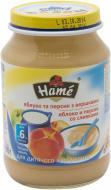 Пюре Hame Яблуко і персик з вершками 190 г 8595139702762