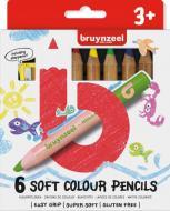 Набір олівців 6 кольорів + чинка для олівців Bruynzeel Bruynzeel