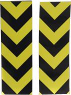 Світловідбивна стрічка чорно-жовта 100х300 мм