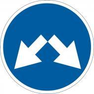 Знак дорожній 4.9 (IІ тип) Об'їзд перешкоди з правого або лівого боку