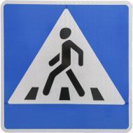 Знак дорожній 5.35.1 (IІ тип, 2014) Пішохідний перехід правосторонній