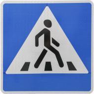 Знак дорожній 5.35.2 (IІ тип, 2014) Пішохідний перехід лівосторонній