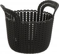 Кошик пластиковий Curver 226398 Knit XS круглий 190x190x230 мм