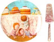 Блюдо для торта Солодке життя 26 см 924-200 Lefard
