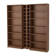Стеллаж IKEA BILLY GNEDBY 200x202x28 см Темно-коричневый (891.556.25)