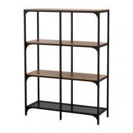 Стеллаж IKEA FJ?LLBO Черный с коричневым (703.392.91)