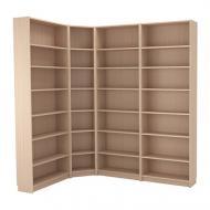Стеллаж угловой IKEA BILLY 215/135x237x28 см Светло-коричневый (492.499.47)