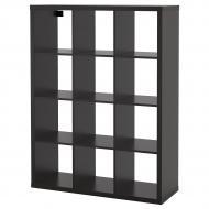 Стеллаж IKEA KALLAX 112x147 см Черно-коричневый (204.099.36)